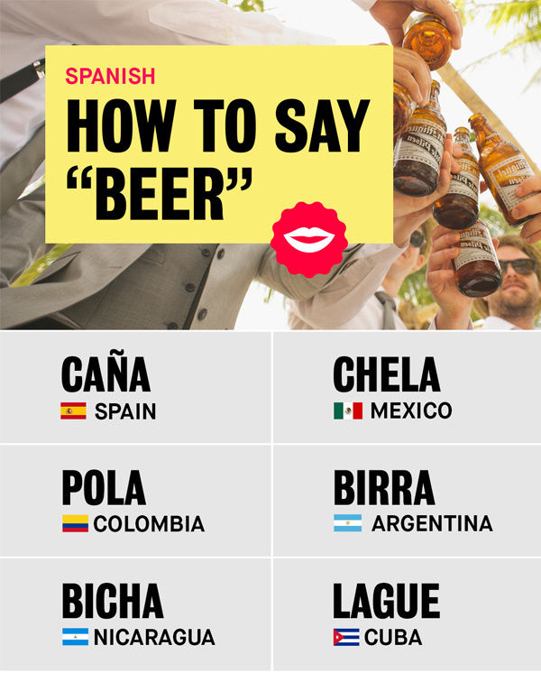 spanish slang for beer